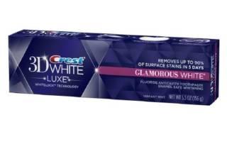 Зубная паста Crest 3D White Lux Glamorous White