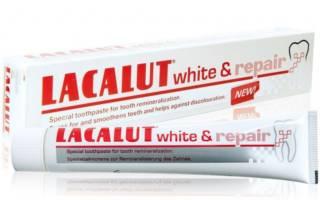 Зубная паста LACALUT white and repair