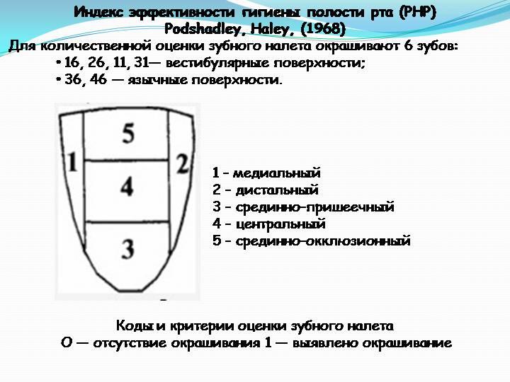 Индекс эффективности гигиены полости рта (РНР)