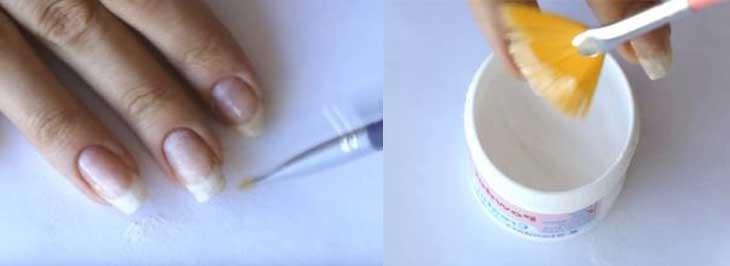 Укрепление ногтей акриловой пудрой под гель-лак, пошаговая инструкция