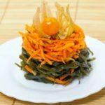 Салат из ламинарии с морковкой