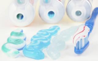 Выдавленная зубная паста
