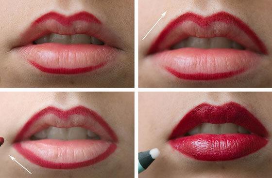 Как красить губы