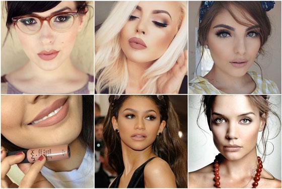 различные варианты макияжа