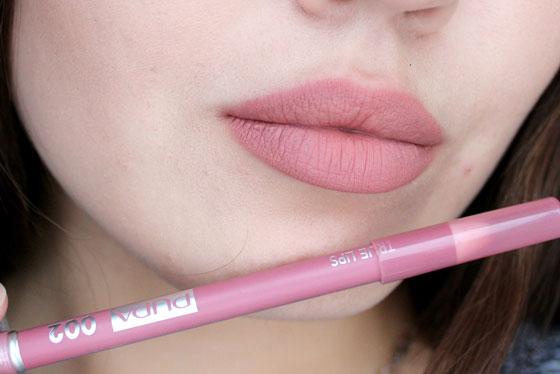 накрасить губы карандашом