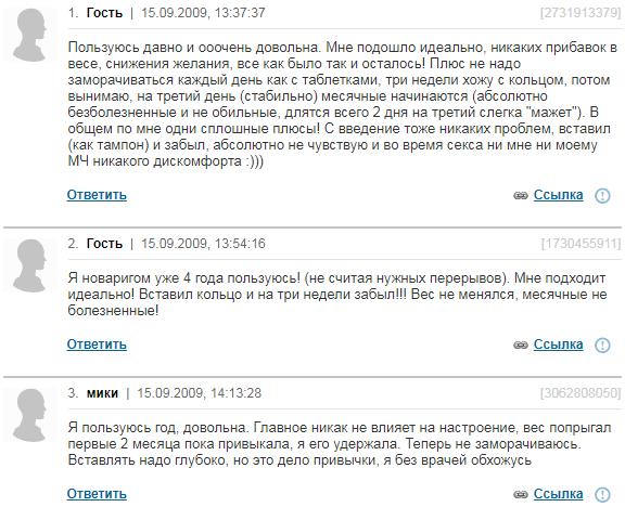 Отзывы о Новаринге
