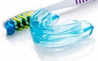 Капы и зубная щетка
