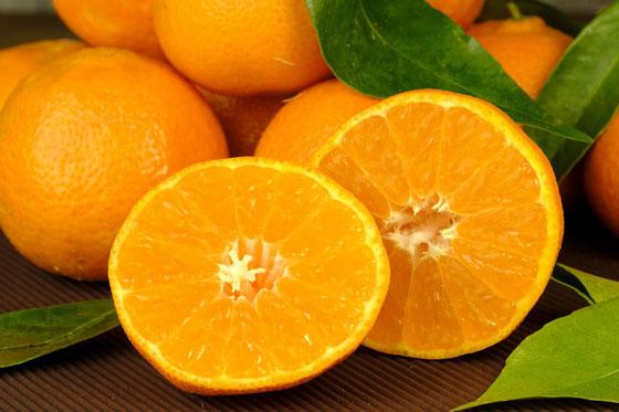 свежий порезанный апельсин