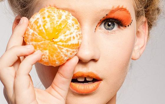 оранжевая помада