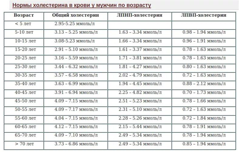 Анализ крови на холестерин у мужчин