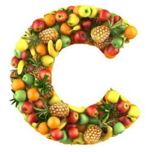 Буква С из фруктов
