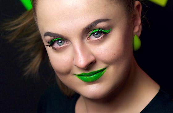 макияж с салатовой помадой