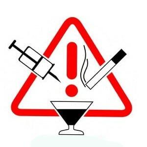 Знак опасности алкоголя и курения