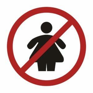 Значок с жирным человеком
